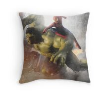 Marvel Team-Up: Hulk & Spider Man Throw Pillow