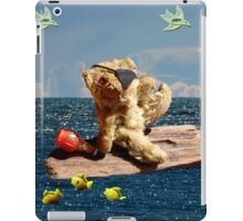 Tiny Teddy with one eye becomes a Pirate iPad Case/Skin