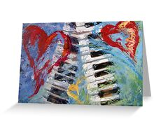 Concerto in Three Minor Hearts Greeting Card