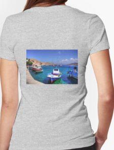 Chalki Fishing Boats Womens Fitted T-Shirt