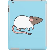 Friendly Hooded Rat - Grey and White iPad Case/Skin