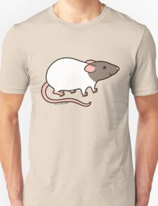 Friendly Hooded Rat - Grey and White Unisex T-Shirt