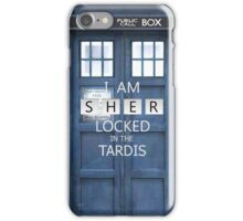 Sherlocked in the Tardis  iPhone Case/Skin