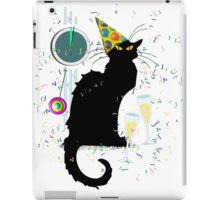 Chat Noir New Years Party Countdown iPad Case/Skin
