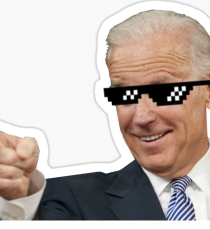 Joe Biden Finger gun - Deal with it - no background Sticker