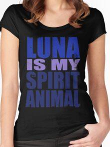 Luna is my Spirit Animal Women's Fitted Scoop T-Shirt