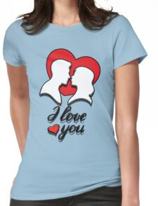Love St Valentine's Day Womens Fitted T-Shirt