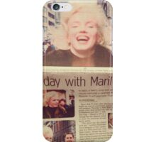 His day with Marilyn film iPhone Case/Skin