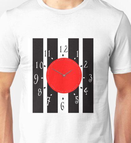 Black and White Clock  Unisex T-Shirt