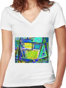 Delineations  Women's Fitted V-Neck T-Shirt