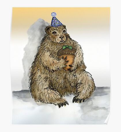 Groundhog Phil's Birthday Party Poster
