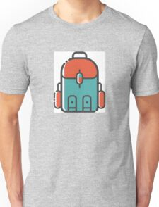 Simple Blue and Red Backpacking Unisex T-Shirt