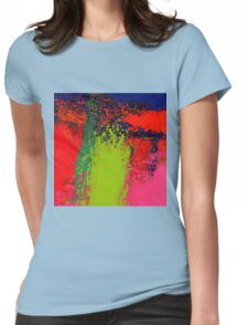 Abstract Cluster Womens Fitted T-Shirt