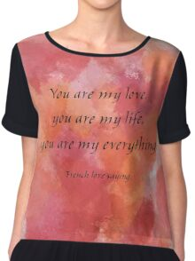 You are my Love Chiffon Top