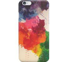 Blotched colours iPhone Case/Skin