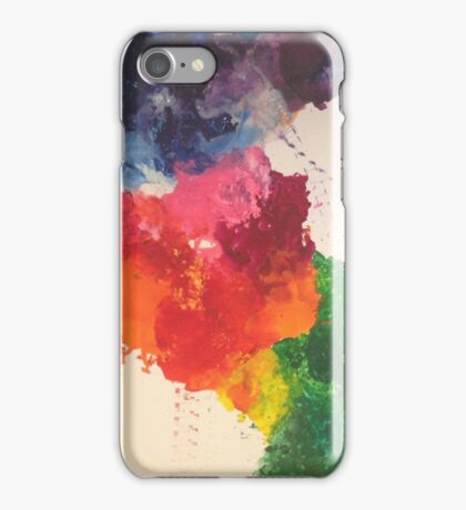 Blotched colours iPhone Case/Skin