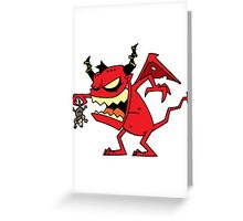 Little devil Greeting Card