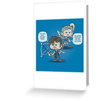 Daryl and Beth Greeting Card