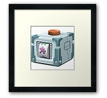 Glitch miscellaneousness play cube Framed Print