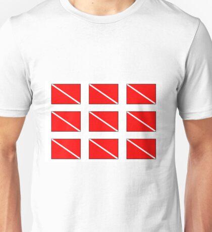 Multiple Diver Down Flag Unisex T-Shirt