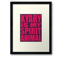 Kyary is my Spirit Animal (PINK) Framed Print