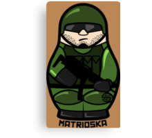 Matrioska soldier Canvas Print
