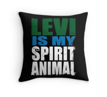 Levi is my Spirit Animal Throw Pillow