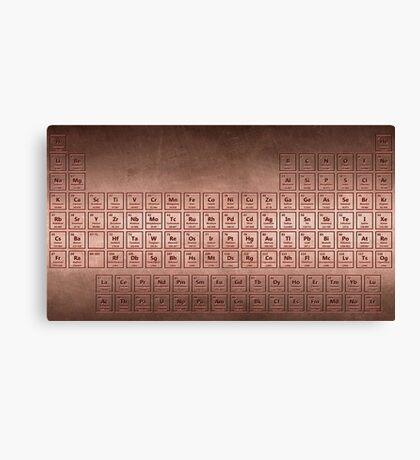 Copper Plate Periodic Table Canvas Print