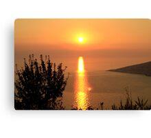 Orange Sunset - Nature Photography Canvas Print