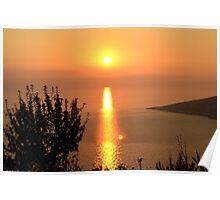 Orange Sunset - Nature Photography Poster