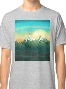 Mountains over the sky - minimalist digital painting Classic T-Shirt