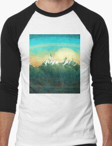 Mountains over the sky - minimalist digital painting Men's Baseball ¾ T-Shirt