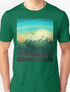 Mountains over the sky - minimalist digital painting Unisex T-Shirt