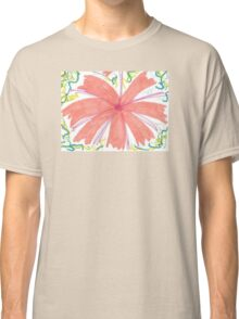 Tropical Sunburst Flowers Classic T-Shirt