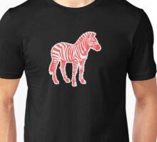 Candy Cane Zebra Unisex T-Shirt