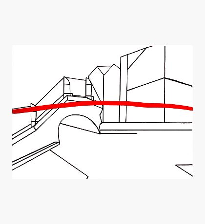 Red line of Venice Photographic Print