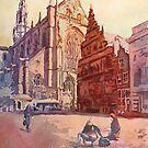 Haarlem Kirk Square by JennyArmitage
