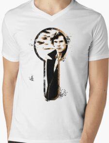 Sher-LOCK-ed Mens V-Neck T-Shirt