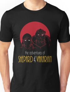 Adventures of FemShep and Vakarian Unisex T-Shirt