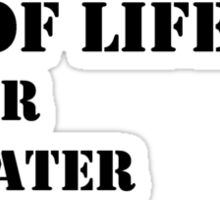 The Necessities Of Life: Snowshoeing - Black Text Sticker
