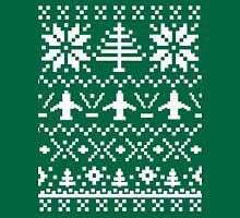 Ugly Christmas Sweater - Airplane / Pilot  Unisex T-Shirt