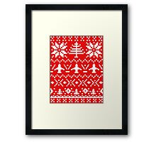 Ugly Christmas Sweater - Airplane / Pilot  Framed Print