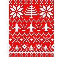 Ugly Christmas Sweater - Airplane / Pilot  Photographic Print