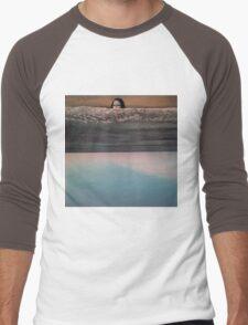 Collage: Mona Lisa Sea. Men's Baseball ¾ T-Shirt