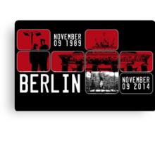 BERLIN WALL 25th Anniversary Canvas Print