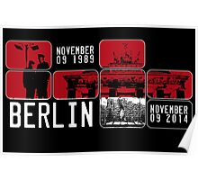 BERLIN WALL 25th Anniversary Poster