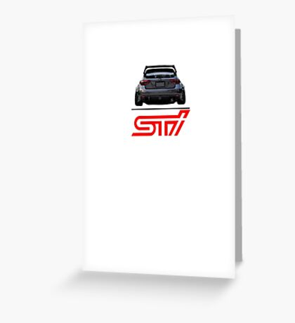 STI Hatchback ass Greeting Card