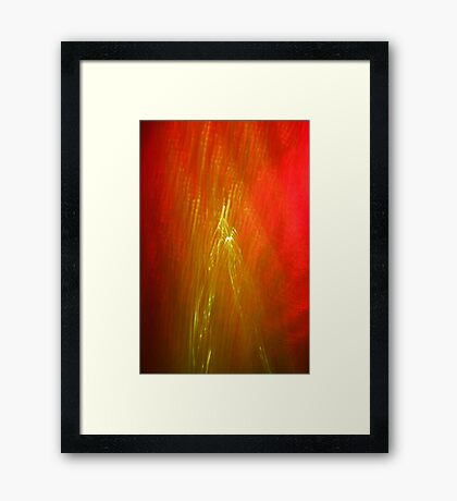 Scattered Red Rain Framed Print