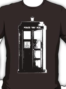 Tardis Noir T-Shirt