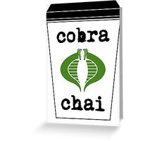 Cobra Chai Greeting Card